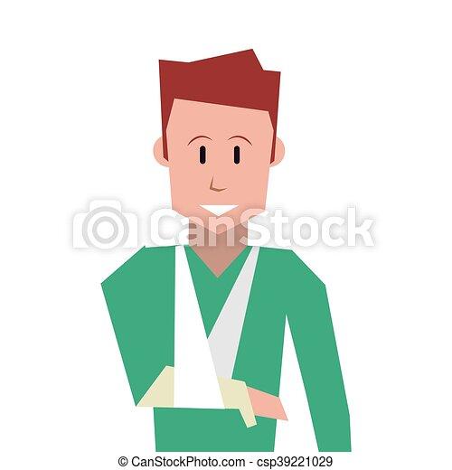 man with broken arm icon - csp39221029