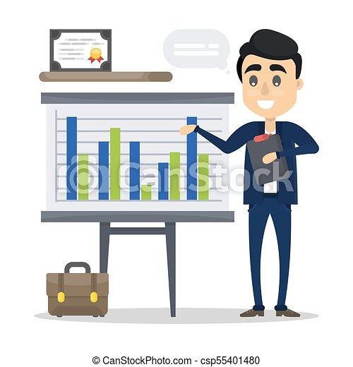 man with business presentation man with business vector search rh canstockphoto com presentation clipart 3d presentation clipart free download