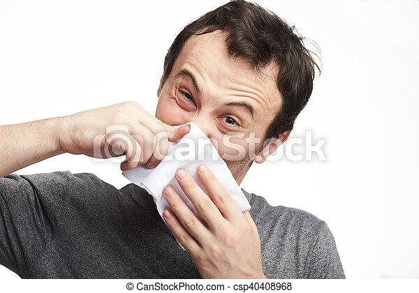 man with flu - csp40408968