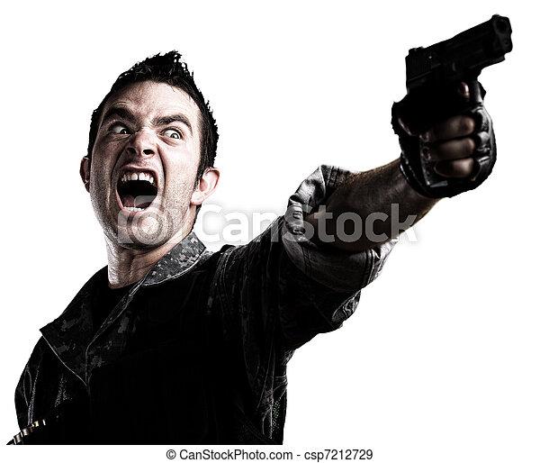 man with gun - csp7212729