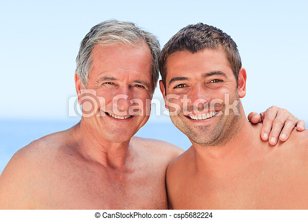 Man with his father-in-law - csp5682224
