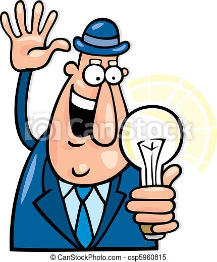 Man with idea - csp5960815