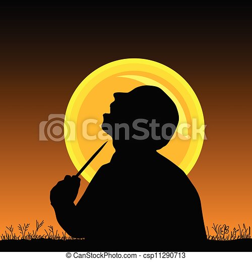 man with knife vector illustration - csp11290713