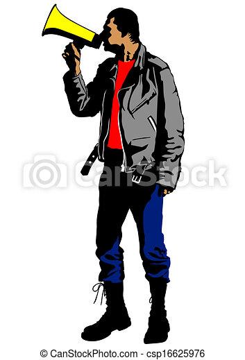 Man with megaphone - csp16625976
