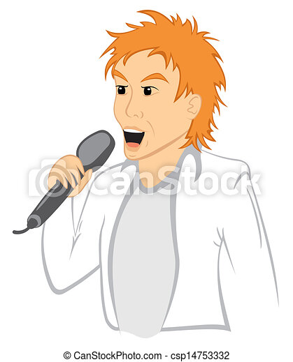 Man with mic - csp14753332