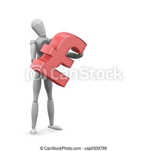 Man with pound sign - csp0309789