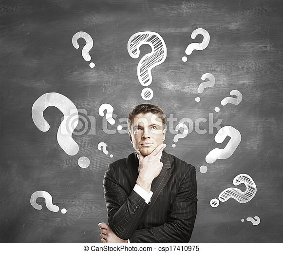 man with question mark - csp17410975