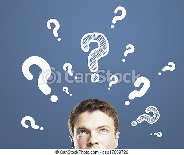 man with question mark - csp17639726