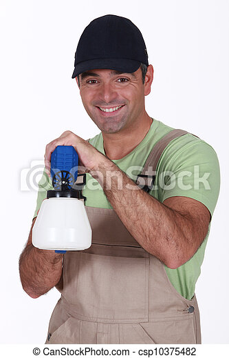 Man with spray gun - csp10375482
