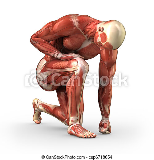 Man with visible muscles - csp6718654