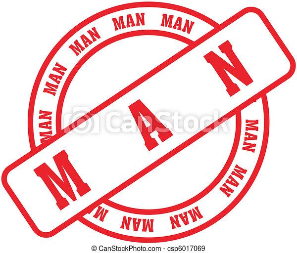 man word stamp3 - csp6017069