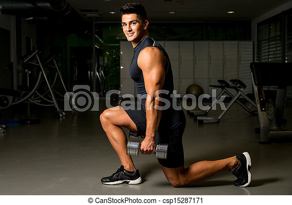 man workout posture body building exercises weight