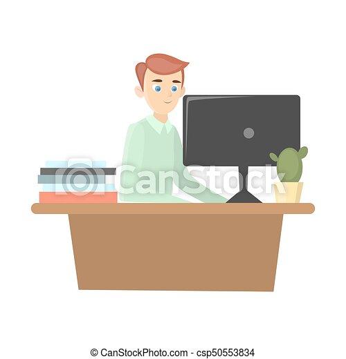 Man works in office. - csp50553834