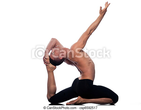 man yoga eka pada rajakapotasana king pigeon pose man
