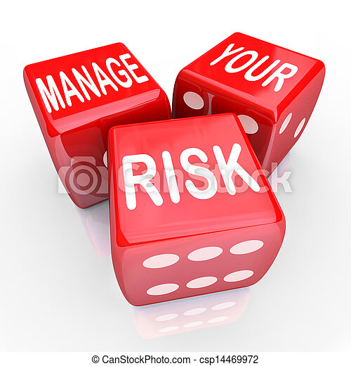 Manage Your Risk Words Dice Reduce Costs Liabilities - csp14469972