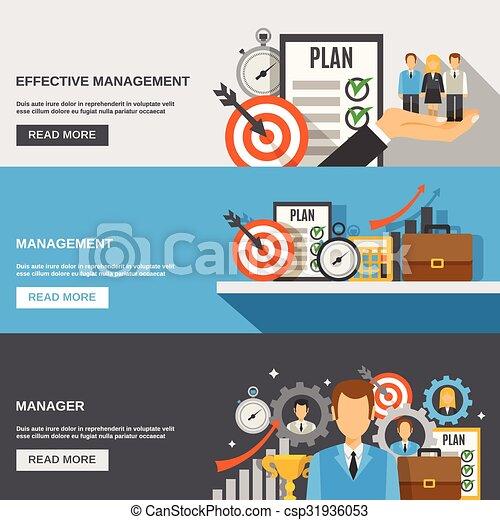 Management Banner Set - csp31936053