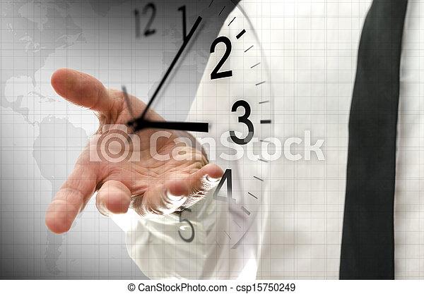 management, concept, tijd - csp15750249