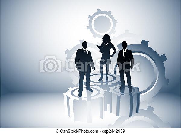 management, macht - csp2442959