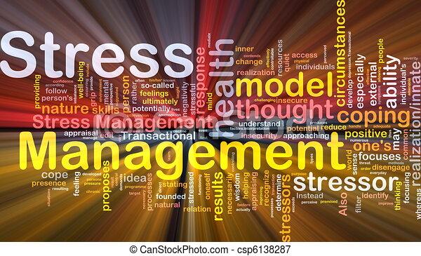 management, stress, concept, gloeiend, achtergrond - csp6138287