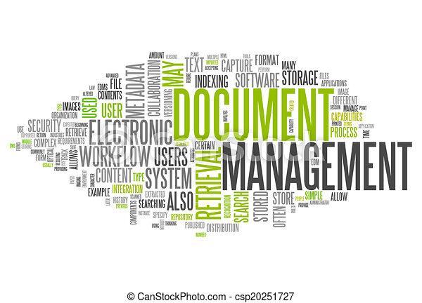 management, woord, document, wolk - csp20251727