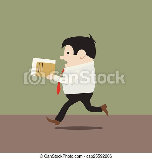 manager in a hurry - csp25592206