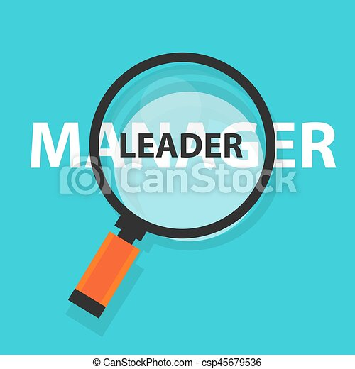 manager leader concept business magnifying word focus on text - csp45679536