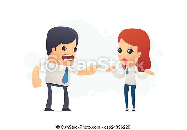 manager scolds his assistant - csp24336220