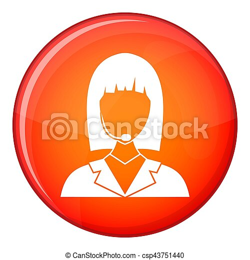 Manager taxi icon, flat style - csp43751440