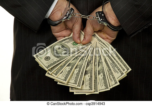 Manager with dollar bills - csp3914943