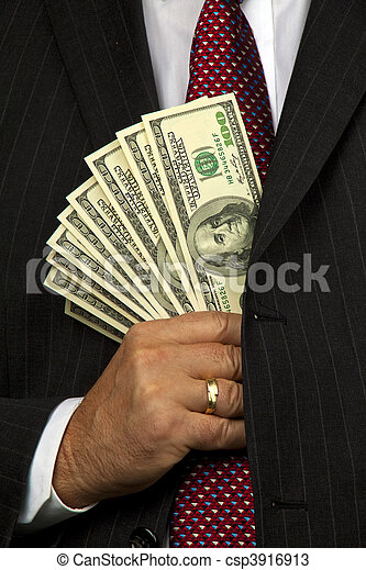 Manager with dollar bills - csp3916913
