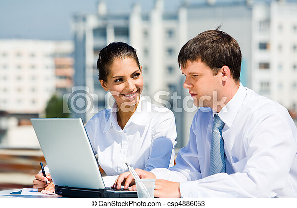 Managers at work - csp4886053
