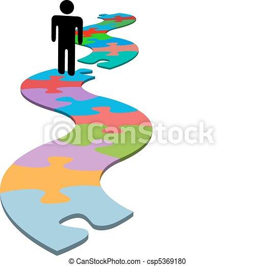 mancante, puzzle, trovare, problema, pezzo, persona, soluzione - csp5369180