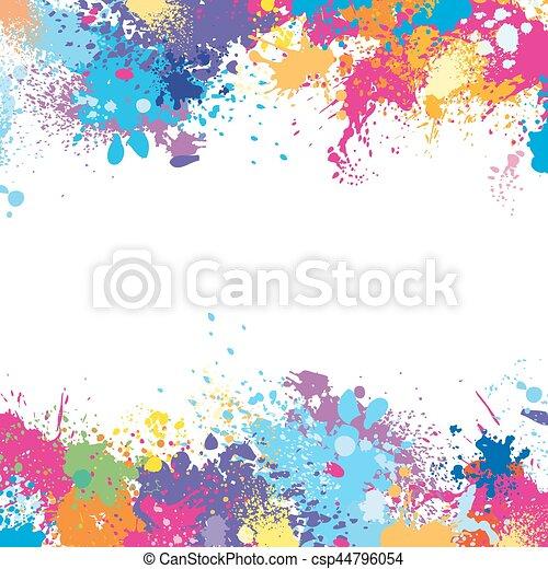 Manchas pintura marco hecho plantilla recorte hecho for Marcos para pinturas