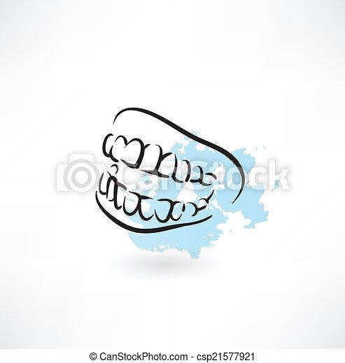 Un icono de dientes - csp21577921