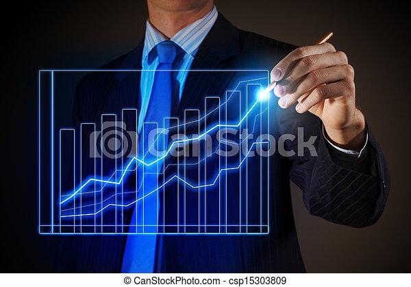 mand, affattelseen, firma, grafik - csp15303809