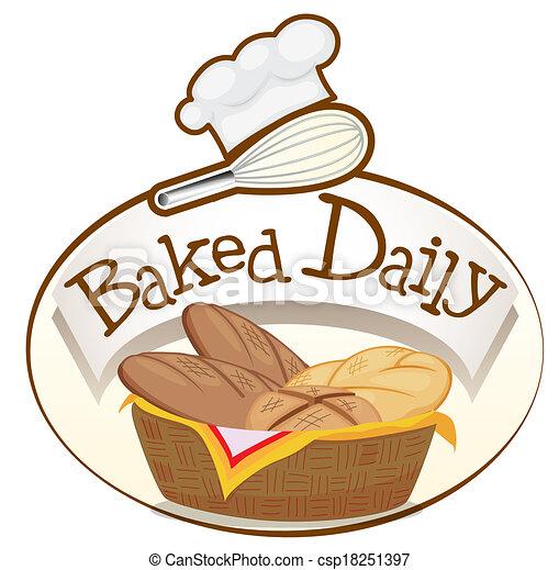 mand, broden, bakt, alledaags, etiket - csp18251397
