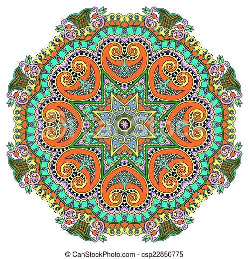 mandala, circle decorative spiritual indian symbol of lotus flow - csp22850775