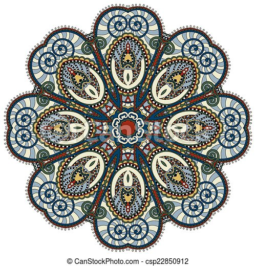 mandala, circle decorative spiritual indian symbol of lotus flow - csp22850912