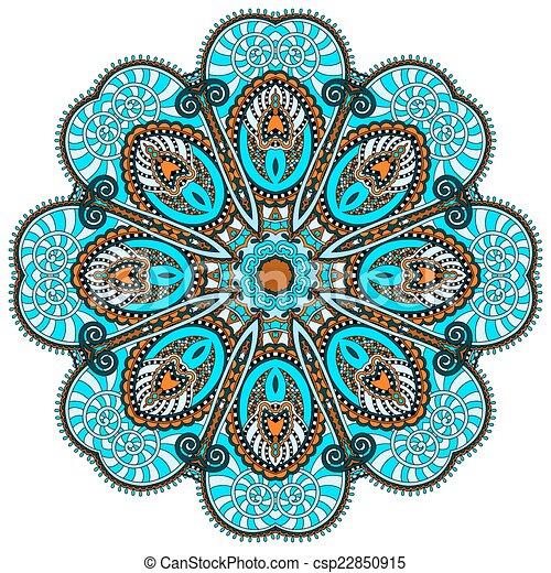 mandala, circle decorative spiritual indian symbol of lotus flow - csp22850915