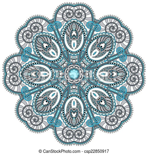 mandala, circle decorative spiritual indian symbol of lotus flow - csp22850917