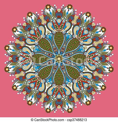 mandala, circle decorative spiritual indian symbol of lotus flow - csp37488213