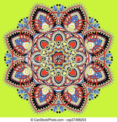 mandala, circle decorative spiritual indian symbol of lotus flow - csp37488203