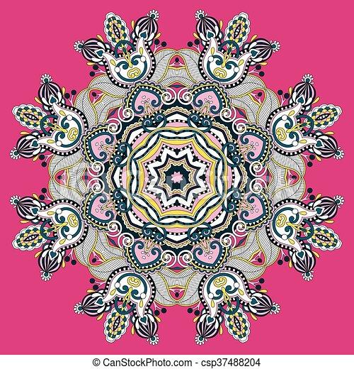 mandala, circle decorative spiritual indian symbol of lotus flow - csp37488204