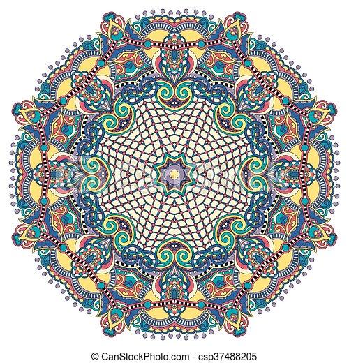 mandala, circle decorative spiritual indian symbol of lotus flow - csp37488205