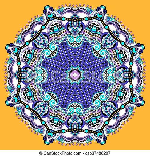 mandala, circle decorative spiritual indian symbol of lotus flow - csp37488207