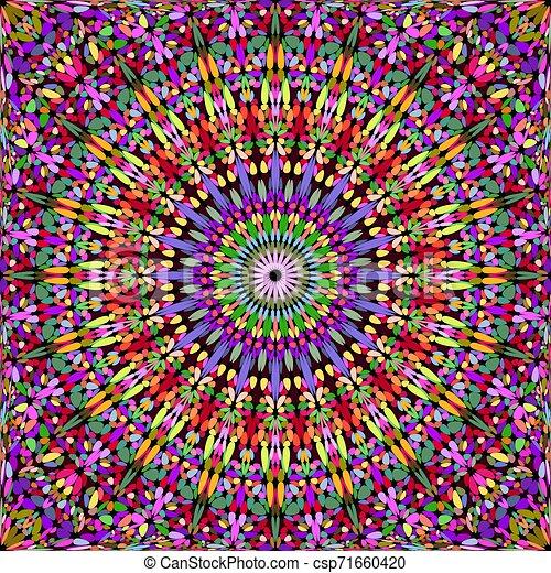 Colorida grava abstracta y sin color, el kaleidoscopio mandala de fondo - csp71660420