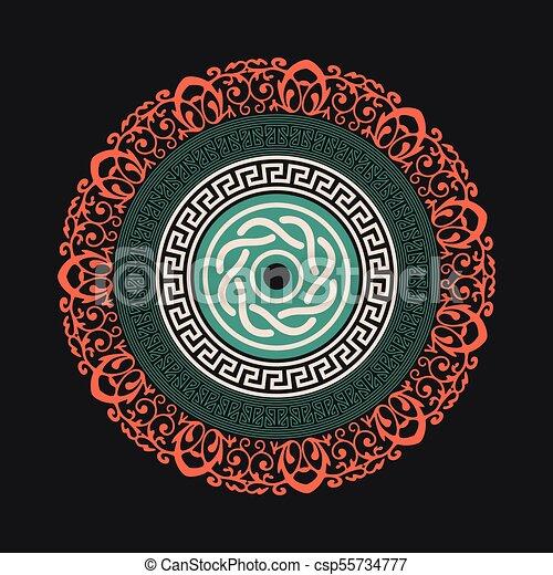 Fondo colorido mandala - csp55734777