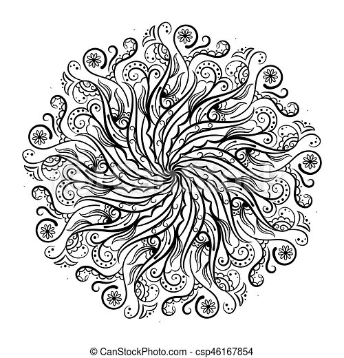 Mandala coloring book vector illustration. Mandala coloring ...