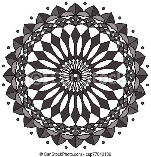 Mandala Conception Gris Couleur Modele Mandala Illustration Conception Gris Couleur Modele Canstock