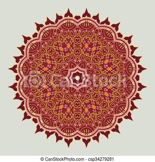 mandala in Oriental style. Vector - csp34279281